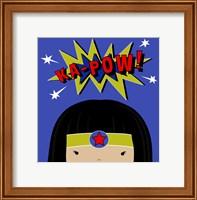 Framed Peek-A-Boo Supergirl