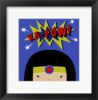 Peek-A-Boo Supergirl Framed Print