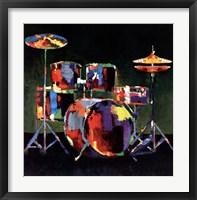 Drum Set Framed Print