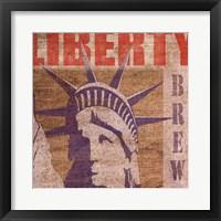 Framed Liberty Cafe
