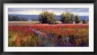 Framed Flowing Through Crimson