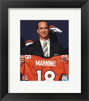 Framed Peyton Manning 2012 Press Conference