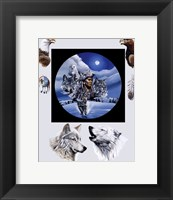 Framed Moonlit Warrior