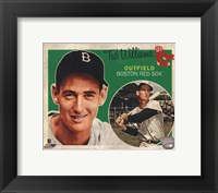 Framed Ted Williams 2012 Studio Plus