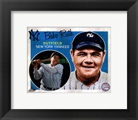 Framed Babe Ruth 2012 Studio Plus