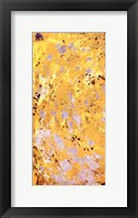 Framed Silvery Yellow I