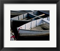Framed Wooden Rowboats V