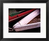 Framed Wooden Rowboats VI