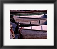 Framed Wooden Rowboats VII