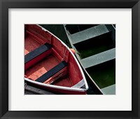 Framed Wooden Rowboats VIII