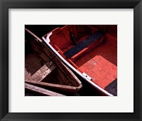 Framed Wooden Rowboats IX