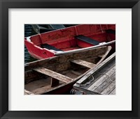 Framed Wooden Rowboats X