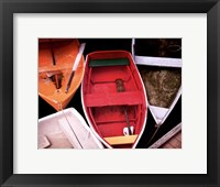 Framed Wooden Rowboats XI