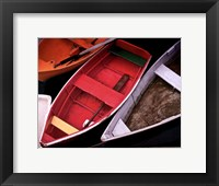 Framed Wooden Rowboats XII