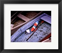 Framed Wooden Rowboats XIII
