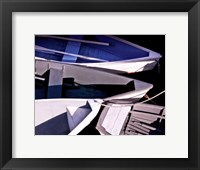 Framed Wooden Rowboats XV