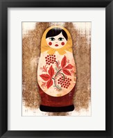 Framed Nesting Dolls I