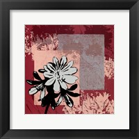 Framed Abstract Agapanthus I