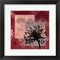 Framed Abstract Agapanthus II