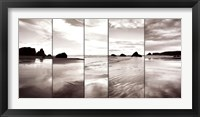 Framed Tides on Bandon Beach