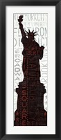 Framed Statue of Liberty - Red