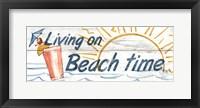 Framed Living on Beach Time