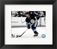 Framed Kris Letang 2011-12 Spotlight Action
