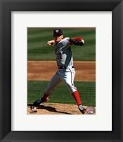 Framed Stephen Strasburg 2012 pitching