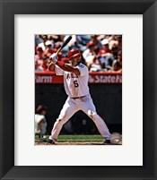 Framed Albert Pujols 2012 batting