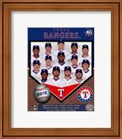 Framed Texas Rangers 2012 Team Composite