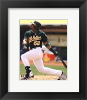 Framed Yoenis Cespedes 2012 Action