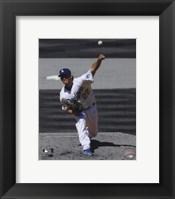 Framed Clayton Kershaw 2012 Spotlight Action