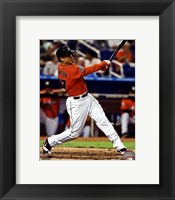 Framed Giancarlo Stanton 2012 Action