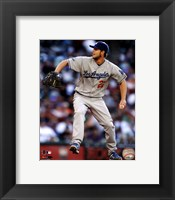 Framed Clayton Kershaw 2012 Action
