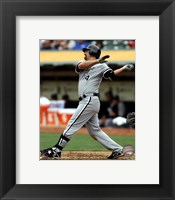 Framed Paul Konerko 2012 Action