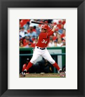 Framed Bryce Harper 2012 batting