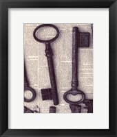 Framed Parisian Keys I