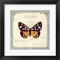 Parisian Butterfly I Framed Print
