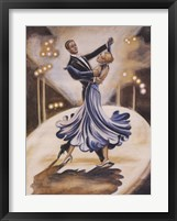 Framed Dancers I (Blue)