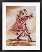 Framed Dancers II (Red)