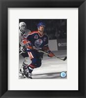 Framed Mark Messier 1990 Stanley Cup Finals Spotlight Action