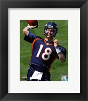 Framed Peyton Manning 2012 Mini Camp Action