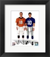 Framed Peyton Manning & Eli Manning 2012 Posed