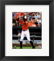 Framed Adam Jones 2012 batting