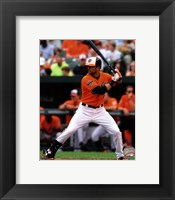 Framed Nick Markakis 2012 Action