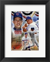 Framed Ron Santo 2012 MLB Hall of Fame Legends Composite