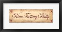 Wine Tasting Daily Framed Print