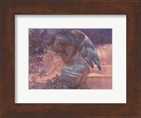 Framed Angel at Rest - foil