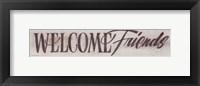 Framed Welcome Friends II