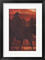 Framed Sunset Rider